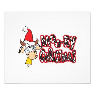 Funny Moory Christmas Cow Moo-ry Invitation Cards Photo Print