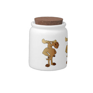 Funny moose candy dish