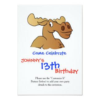 Funny moose card