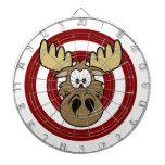 Funny Moose Eye Red Target Dart Boards