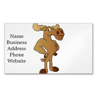 Funny moose magnetic business card