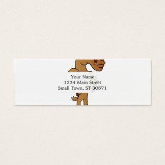Funny moose mini business card
