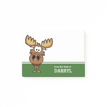 reflections06 Funny Moose Personalized Post-it Notes
