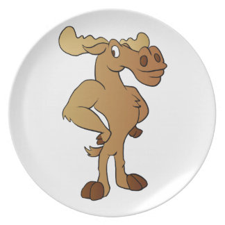 Funny moose plate