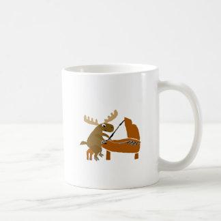 Funny Moose Playing Piano Original Art Coffee Mug