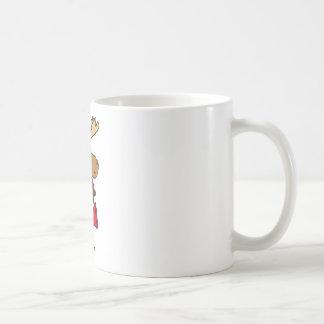 Funny Moose Playing Red Saxophone Original Art Coffee Mug