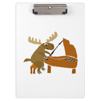 Funny Moose Playing the Piano Clipboard