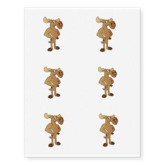 Funny moose temporary tattoos
