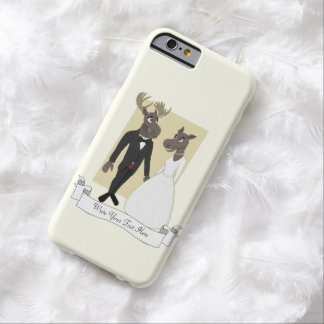 Funny Moose Wedding Cartoon Barely There iPhone 6 Case