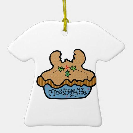 funny mooseberry pie christmas ornaments