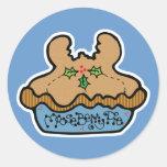 funny mooseberry pie round stickers