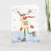 Funny Moosey Colorado Christmas Greeting Card