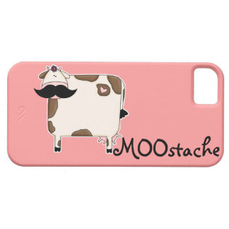 funny MOOstache mustache cow iPhone 5 Case