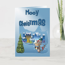 Funny Mooy Christmas Cow Card