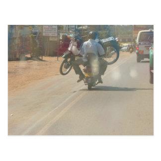 """Funny moped """"boda boda"""" picture postcard"""