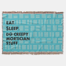 Funny Mortician Funeral Director Woven Blanket #2 Throw Blanket