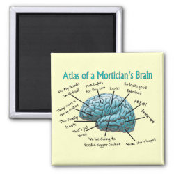 Funny Mortician Gifts 2 Inch Square Magnet