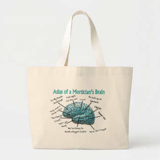 Funny Mortician Gifts Large Tote Bag