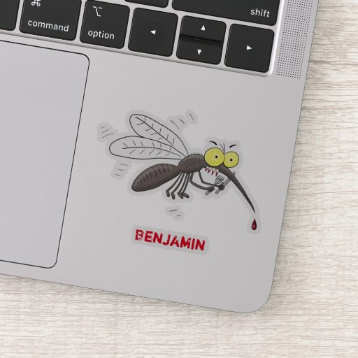 Funny mosquito insect cartoon illustration sticker