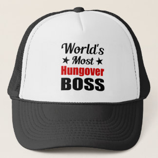 Funny Most Hungover Boss Drinking Trucker Hat