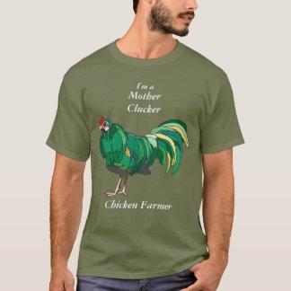Funny Mother Clucker Chicken Farmer Green Chicken T-Shirt
