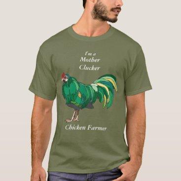 EveryThingBeautiful Funny Mother Clucker Chicken Farmer Green Chicken T-Shirt