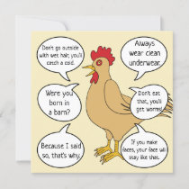 Funny Mother Hen Advice Mother's Day