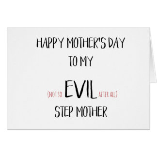 Funny Mothers Day Card - Step Mom