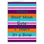 Funny Mothers Day Card Striped Summer Colors