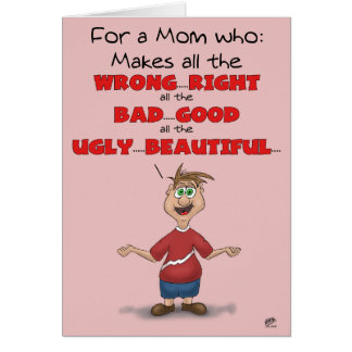 Funny Mothers Day Cards: All the Wrong Right