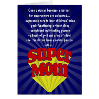 Funny Mother's Day Cards, Super Mom Card