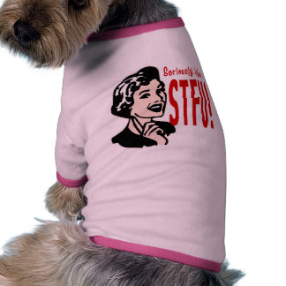 Funny Mother's Day Design Doggie Tee Shirt
