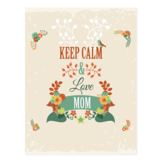 Funny Mothers Day Gift Keep Calm Design Postcard