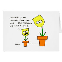 Funny Mothers Day Yellow Tulips Flowers Card