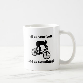 Funny mountain biking classic white coffee mug
