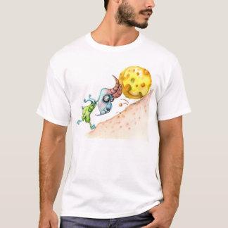 Funny Mountain Goat Pushing Cheese T-Shirt