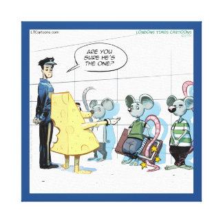 Funny Mouse Crime Rick London Canvas Print