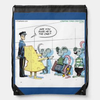 Funny Mouse Crime Rick London Drawstring Backpack