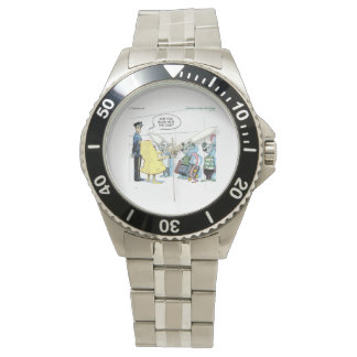 Funny Mouse Crime RickLondon Stainless Steel Watch