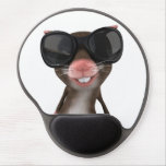 Funny Mouse Gel Mouse Pad<br><div class='desc'>Funny looking black and white gel mouse pad design by WearSmart</div>