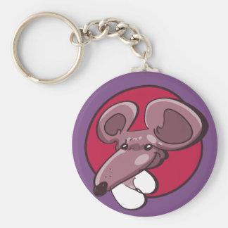 funny mouse head cartoon keychain