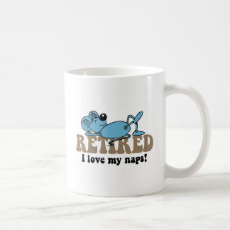 Funny mouse napping retirement coffee mug