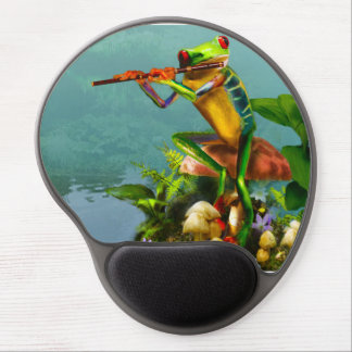 Funny Mouse pad with Flute Playing Tree Frog Gel Mouse Pad