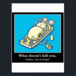 "Funny Mouse Product Postcard<br><div class=""desc"">Cute Mouse doing a push up on a mouse trap</div>"