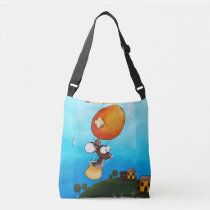 Funny mouse shoulder bag