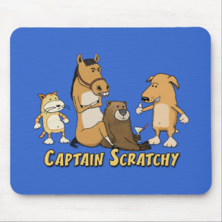 Funny mousepad: Captain Scratchy