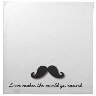 Funny Moustache Mustachio B01 Napkin