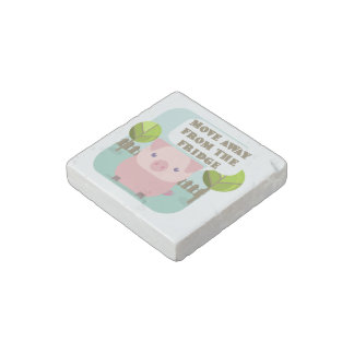 Funny Move Away From The Fridge Pig Stone Magnet