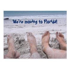 Funny Moving To Florida Change Of Address Postcard at Zazzle