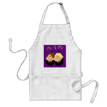 Funny Mr and Mr wedding design for Gay Men - eggs Adult Apron